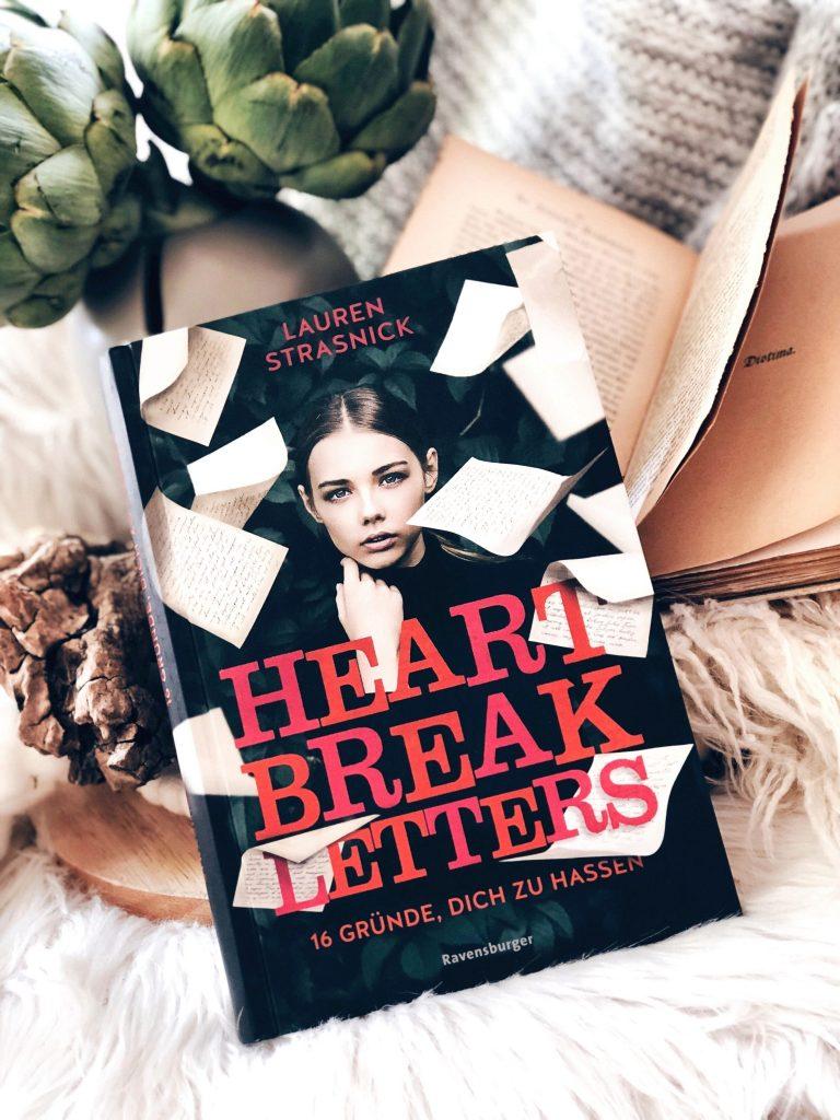 Rezension Lauren Strasnick – Heartbreak Letters. 16 Gründe, dich zu hassen